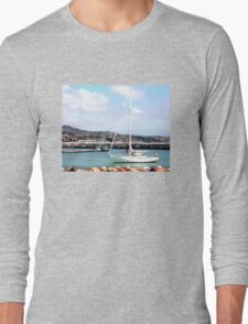 Sailboat Entering Marina Long Sleeve T-Shirt