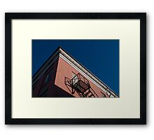 Tops of Buildings in Downtown Port Hope: Fire Escape Framed Print