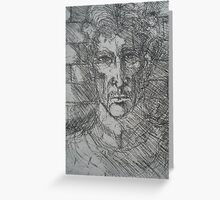 My Etching of George Orwell Greeting Card