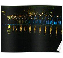 Bridge Lights at Phillipsburg Manor, Sleepy Hollow NY Poster