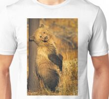 Grizzly Cub - Snow -Signed-5175 Unisex T-Shirt