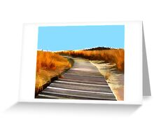 *Abstract Beach Dune Boardwalk* Greeting Card