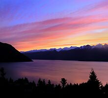 Rainbow Coloured Sunset  by Jill Fisher