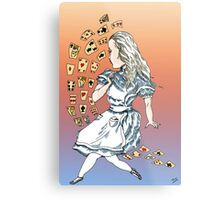 Alice and Cards part one Metal Print