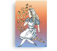 Alice and Cards part one Canvas Print