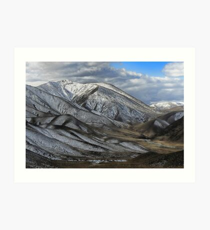 Sprinkled with Silvery Snow Art Print