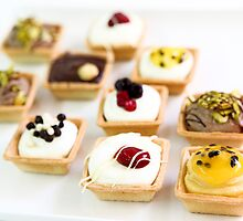 Tartelettes (smal tarts) various flavours  by PhotoStock-Isra