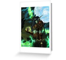 Night Elf Rogue Greeting Card