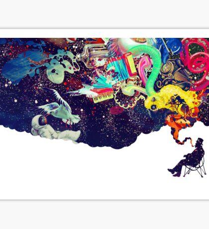 Cool crazy art  Sticker