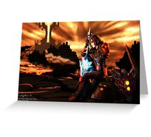 Warrior in the Firelands Greeting Card