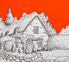 A Thatched Cottage by Adam Regester