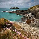 Cornwall : Godrevy Summer by Angie Latham