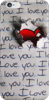 I Love You - iPhone Case by hallucingenic