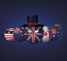 Countryball england america canada by TwitchMerch