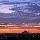 Perth City - View from the Hills by Leah Kennedy