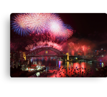 Sydney on Fire Canvas Print