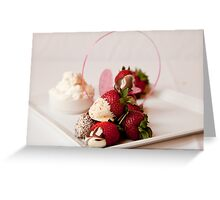 Chocolate dipped strawberries Greeting Card