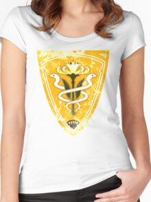Gridania flag grunge Women's Fitted Scoop T-Shirt