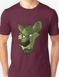Green wolf head with shading  T-Shirt