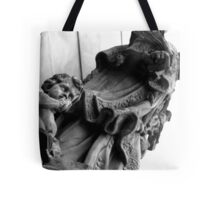 Shhhh! Sleeping Saint ... just read him a bed-time story ... Tote Bag