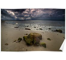 An overcast day at Kurnell Beach Poster