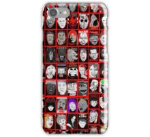 Faces of Horror Collage art iPhone Case/Skin