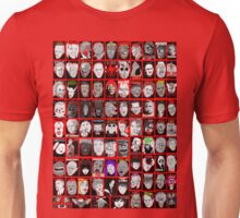 Faces of Horror Collage art Unisex T-Shirt