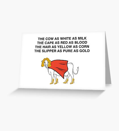 Into the Woods Milky White Greeting Card