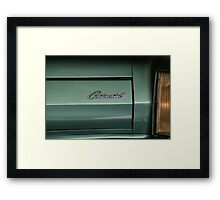 Cadillac tail light in blue Framed Print