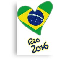 Olympic Heart for Olympic Games in Rio de Janeiro 2016 (B) Canvas Print
