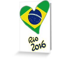 Olympic Heart for Olympic Games in Rio de Janeiro 2016 (B) Greeting Card