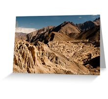 the unique hills of leh Greeting Card