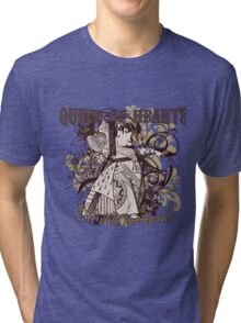 Queen of Hearts Carnivale Style Tri-blend T-Shirt