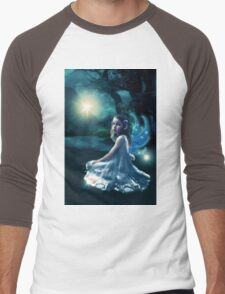 Fairy and Fireflies Men's Baseball ¾ T-Shirt