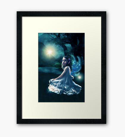 Fairy and Fireflies Framed Print