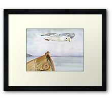 Flying Across Framed Print