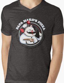 Papa Mako's Pizza Mens V-Neck T-Shirt