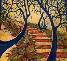 """""""The Stairs to Now"""" from the series """"Tales from the Unknown Book"""" by Anna Miarczynska"""