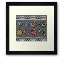 Ash and cross-stitch Framed Print