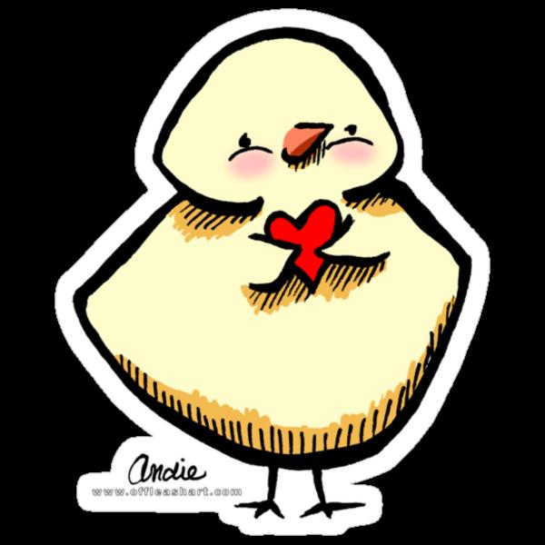 Cute Chick Sticker by offleashart