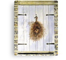 The Shuttered Window Canvas Print