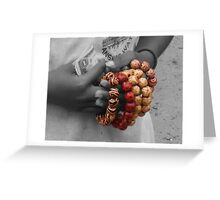 The Girl With The Beads Greeting Card