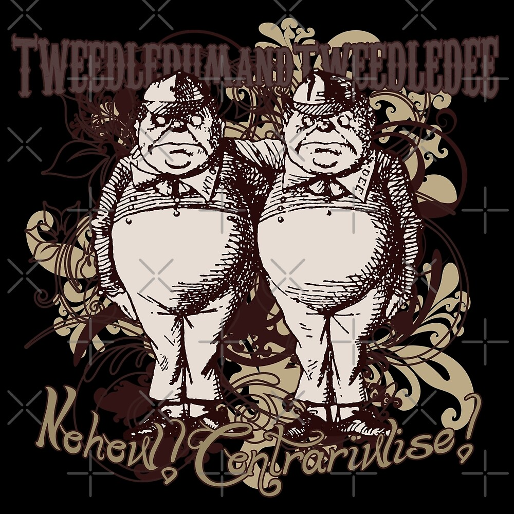 Tweedledum & Tweedledee Carnivale Style by Sally McLean