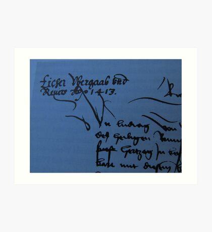 History Book with an old Document - Libro de Historia con un Documento vejo Art Print