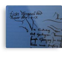 History Book with an old Document - Libro de Historia con un Documento vejo Metal Print