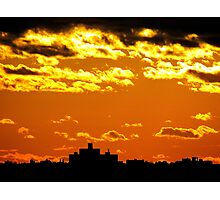 Sunset silhouette, New York City Photographic Print