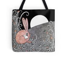 Full Moon Hare Tote Bag