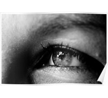 Black & White Macro Eye Poster