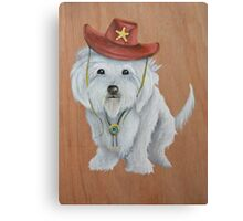 Sherriff Bagel Canvas Print