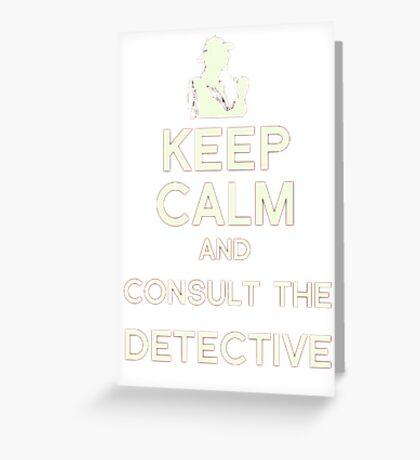 Consult the Detective Greeting Card